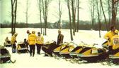 1974 ski doo evolves again a snowmobile trail system is born. 0